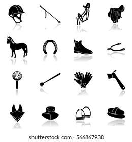 Horse Riding Equipment  Icon-Illustration