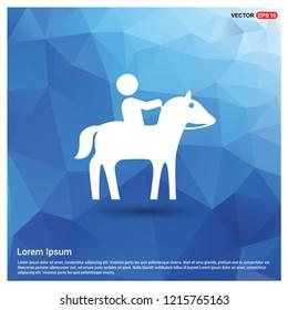 Horse Riding Icon - Free vector icon