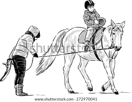 Horse Riding Lessons Stock Vector Royalty Free 272970041
