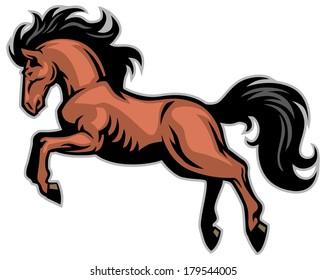 horse run mascot
