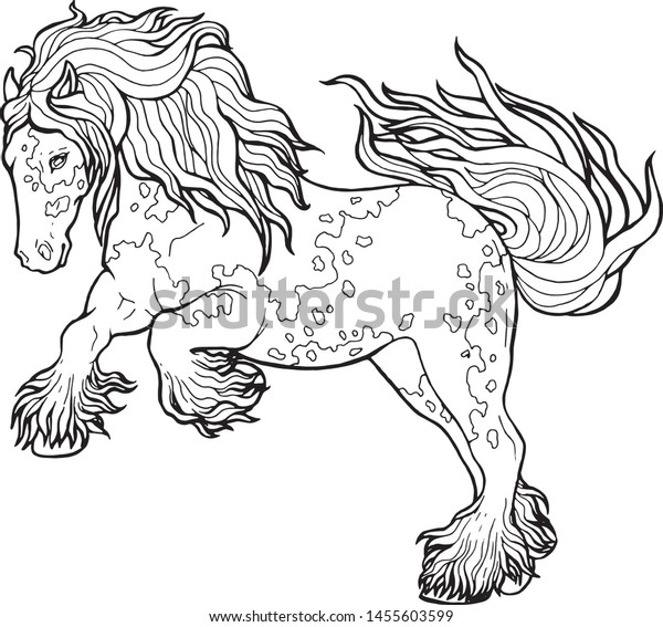 - Horse Runs Trot Coloring Book Horse Stock Vector (Royalty Free) 1455603599
