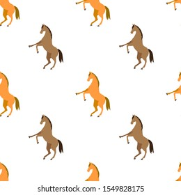 Horse seamless pattern design. Use it for print poster or package, equestrian cloth design.