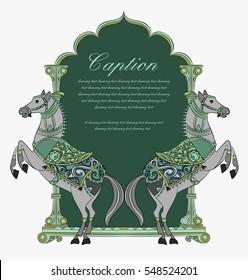horse shield design/logo