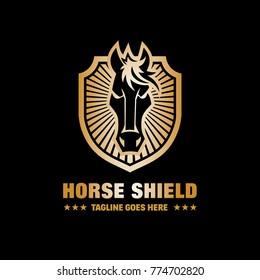 Horse Shield Vector Logo