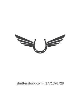 horse shoe icon logo vector illustration design