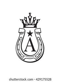 Horse Shoe Logo, Farm Logo, Horse Logo