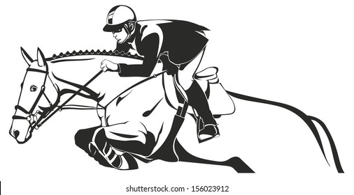 Horse Show jumping, Equestrian sport, horse and rider