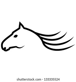 horse sign - vector illustration