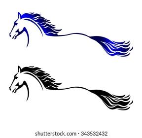 Horse silhouette, logo design