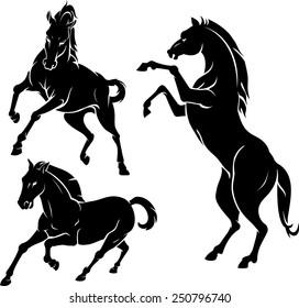 Horse Silhouette Set