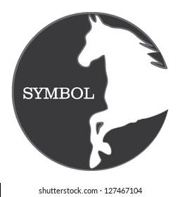 horse silhouette symbol
