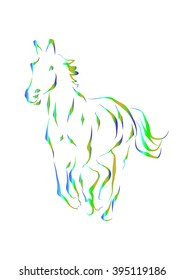 Horse silhouette. Vector illustration.