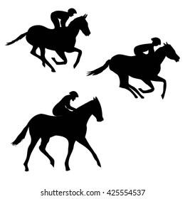 horse silhouette - vector illustration