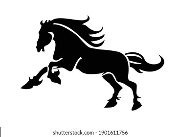 Horse silhouette Wall decal, Beautiful horse decal, Home decor, Wall decor, Home  Living, Horse wall vinyl stickers, Animals wall