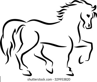 Horse sketch style