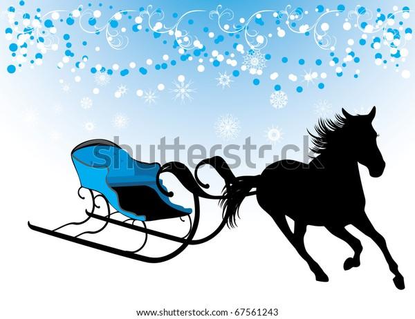 horse-sledges-composition-christmas-card