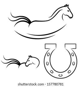 horse symbol and horseshoe