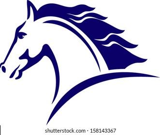 horse symbol,  logo design