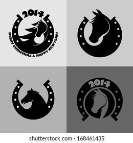 Horse symbol vector.