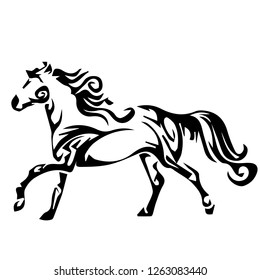 horse tattoo icon design vector