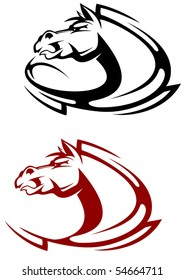 Horse tattoo symbol or logo template. Jpeg version also available in gallery
