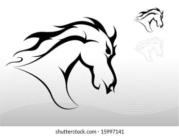 Horse tattoo tribal