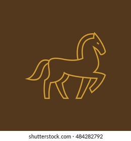 horse  thin line icon design. zoo animals vector illustration