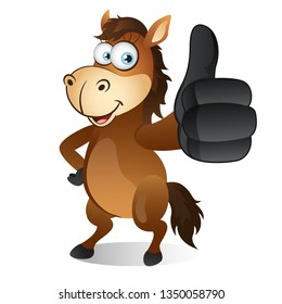 Horse with Thumbs up gesture