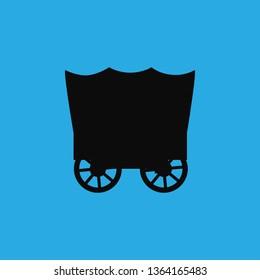 horse truck icon vector