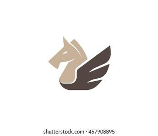 Horse vector logo in a modern style.