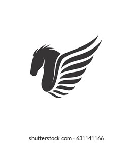 horse with wings icon logo