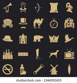 Horseman icons set. Simple set of 25 horseman vector icons for web for any design