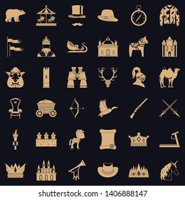 Horsemanship icons set. Simple style of 36 horsemanship vector icons for web for any design