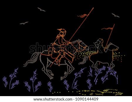 Horsemen with spears