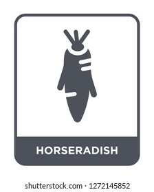 horseradish icon vector on white background, horseradish trendy filled icons from Fruits and vegetables collection, horseradish simple element illustration