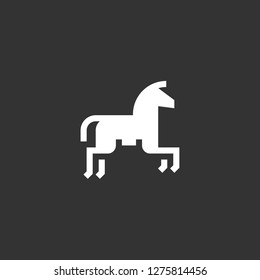horseriding icon vector. horseriding vector graphic illustration