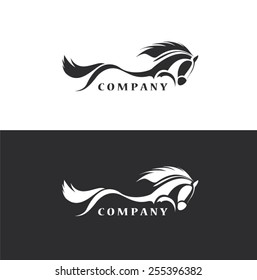 horses icon - vector design