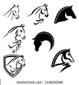 Horses logo set