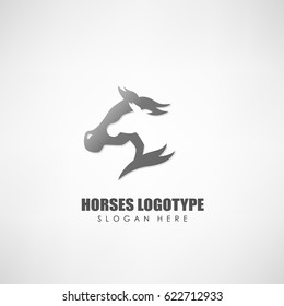 Horses logotype, Suitable for company logotype, and other. Vector illustration