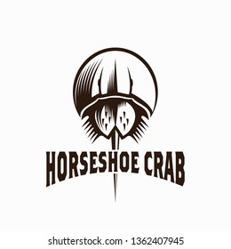 Horseshoe Crab Logo Vector