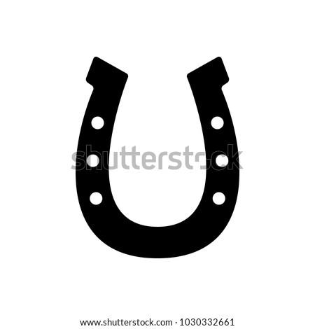 Horseshoe Icon Good Luck Symbol Isolated