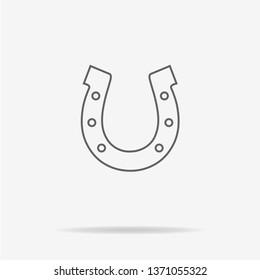 Horseshoe icon. Vector concept illustration for design.