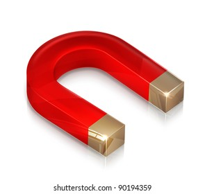 Horseshoe magnet, vector