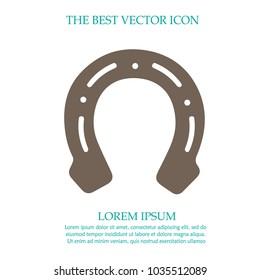 Horseshoe vector icon.