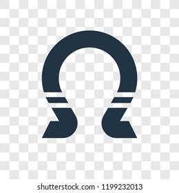 Horseshoe vector icon isolated on transparent background, Horseshoe transparency logo concept