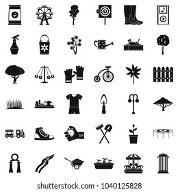 Horticulturist icons set. Simple set of 36 horticulturist vector icons for web isolated on white background