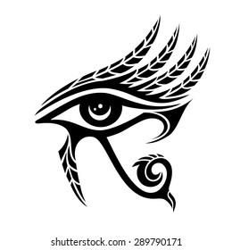 Horus eye, ancient egypt, falcon god, feathers