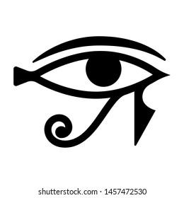Horus eye icon. Good sight vector logotype. Ancient magic pharaon drawing.