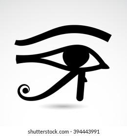 Horus eye icon isolated on white background. Vector art.