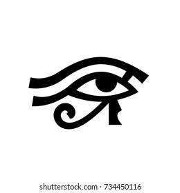 Horus eye (Wadjet), Eye of Ra.  Antique Egyptian hieroglyphic mystical sign.